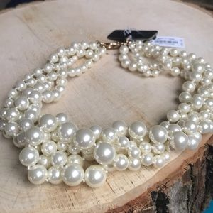J. Crew 5-strand faux pearl necklace
